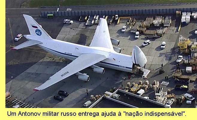 Antonov russo entrega ajuda aos EUA.
