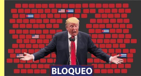 Trump reforçou o bloqueio contra Cuba.