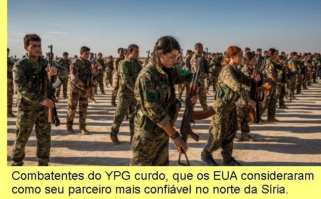 Combatentes do YPG.