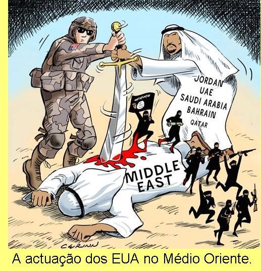 A actuação dos EUA no Médio Oriente.