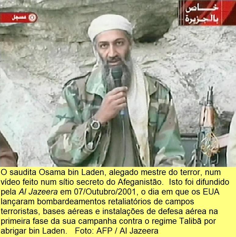 Osama bin Laden em 07/Outubro/2001.
