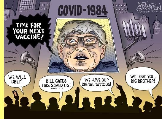 Bill Gates, cartoon de Ben Garrison.
