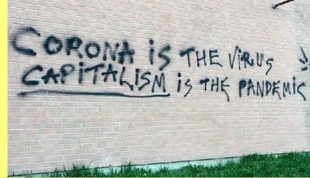 Corona é o vírus, capitalismo é a pandemia.