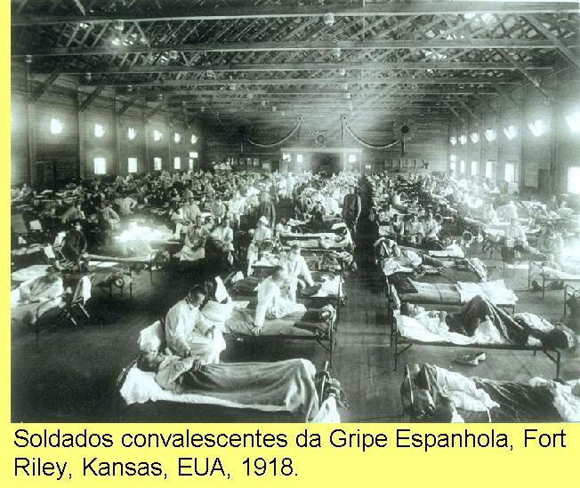 Doentes da Gripe Espanhola, 1918.