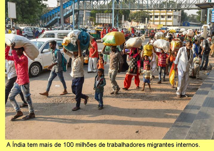 Migrantes internos na Índia.