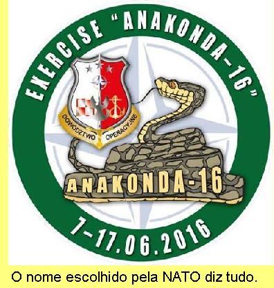 Logo da Operação Anaconda.