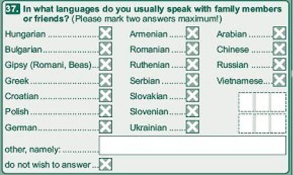 Censo na Hungria.
