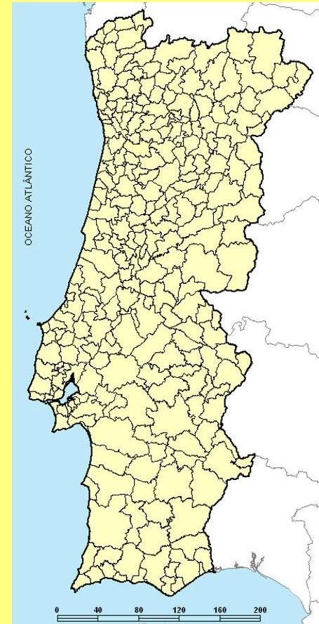 mapa de portugal com freguesias A fusão destrutiva das freguesias em Portugal mapa de portugal com freguesias