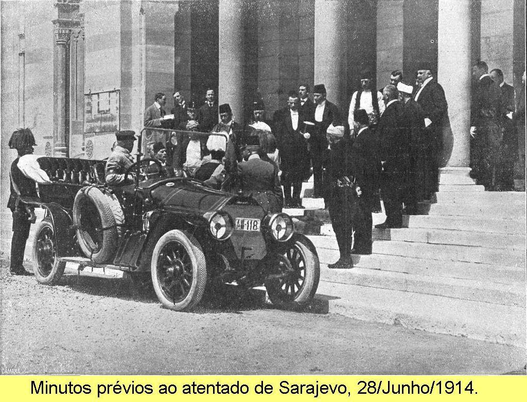 Minutos anteriores ao atentado de Sarajevo, 28/Junho/1914.