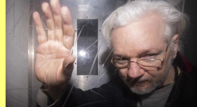 Julian Assange no pres