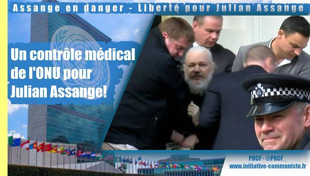 Um controle médico da ONU para Julian Assange