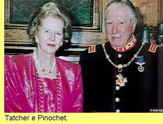 Tatcher e Pinochet.